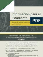 Información Para El Estudiante