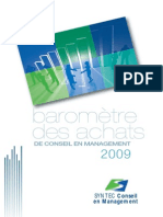 CONSULTING Syntec BarometreAchatsConseil 2009