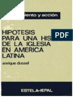 Hipótesis Para Una Historia de La Iglesia en América Latina