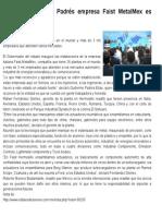 26-09-2014 Guillermo Padrés inauguró empresa italiana Faist MetalMex