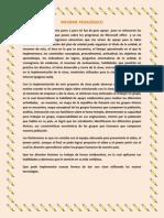 informe pedaggico finalizado el plan