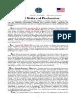 Lamont El Judicial Notice and Proclamation