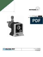 Manual Bomba Dosificadora MILTON ROY Serie Roytronic