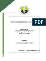 Instrumentos Públicos Protocolares Arreglado