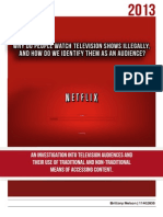 Why do people watch television shows illegally, and how do we identify them as an audience?