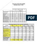 Costos Operario Oficial Peon 2013 2014