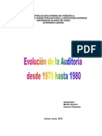 Evolución de La Auditoria