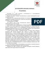 A Romaniai Szekelyfold Autonomia Statutuma
