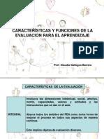 Características y Funciones de La Evaluacion