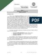 Tema I - Sistemas de Manejo de Bases de Datos