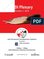 October 1st, 2014 JEDI Plenary Program