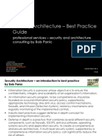 security architecture best practice by bob panic whitepaper
