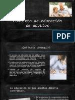 Contexto de Educación de Adultos
