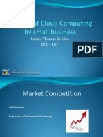 The Use of Cloud Computing by Small Business