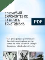 Principales Exponentes de La Musica Ecuatoriana