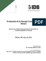 Evaluacion de La Energía Geotermia en México