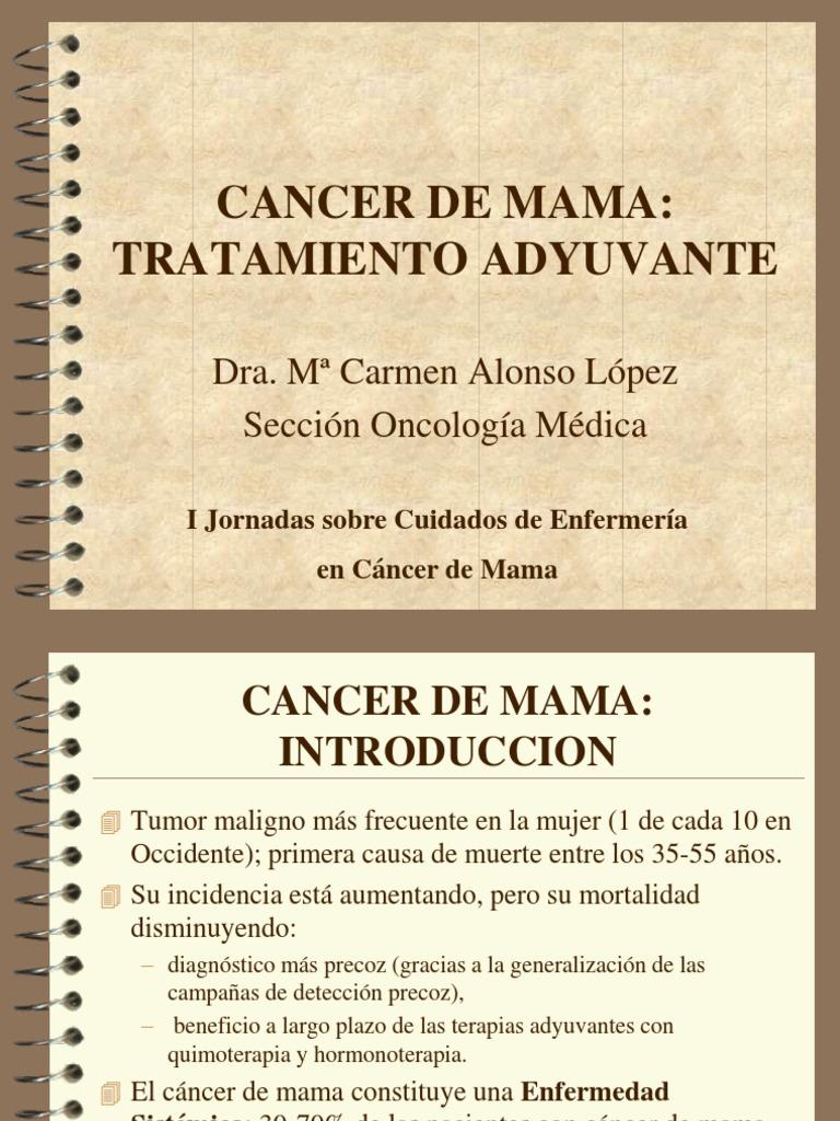 Cancer Mama Tratamiento Adyuvante
