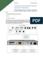 Identificación de Estándares y Descripción de Interfaces de Equipos de Comunicaciones