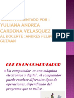 Presentacion Que Es Un Computador Andres Guzman