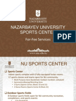 Nazarbayev University Sports Fees