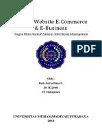 Analisis Web e Com - e Bisnis