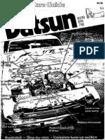 Datsun Car Care Guide B210 610 710