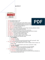 Highlights of Union Budget 2014