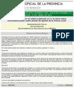 B.O.P. de Badajoz - Rectificación Del Anuncio 02402:2014 Del Boletín Nº. 75 - Diputación de Badajoz