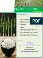 27 Th September 2014 Daily Global Rice E-Newsletter by Riceplus Magazine