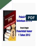 Pokok Pokok Ketentuan UU PPN Sesuai PP No.1 Tahun 2012 eBook