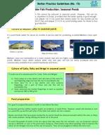 15_Marketable Fish Production Seasonal Ponds