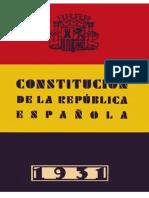 Constitucion de La Segunda Republica Espanola 1931