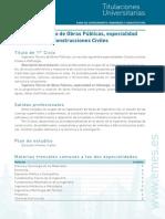 Ingeniero Tecnico Obras Publicas Especialidad Hidrologia Construcciones Civiles