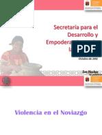 Violencia en El Noviazgo, Exp COBACH