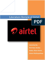 Literature Review for Airtel