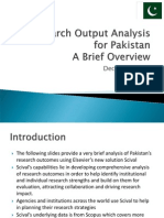 Pakistan Research Overview Dec 2013