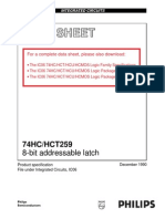 74HCT259D 8-bit addressable latch DATA SHEET