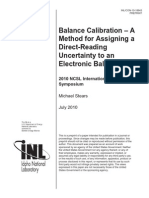 Balance Calibration Paper Final Idaho National Laboratory