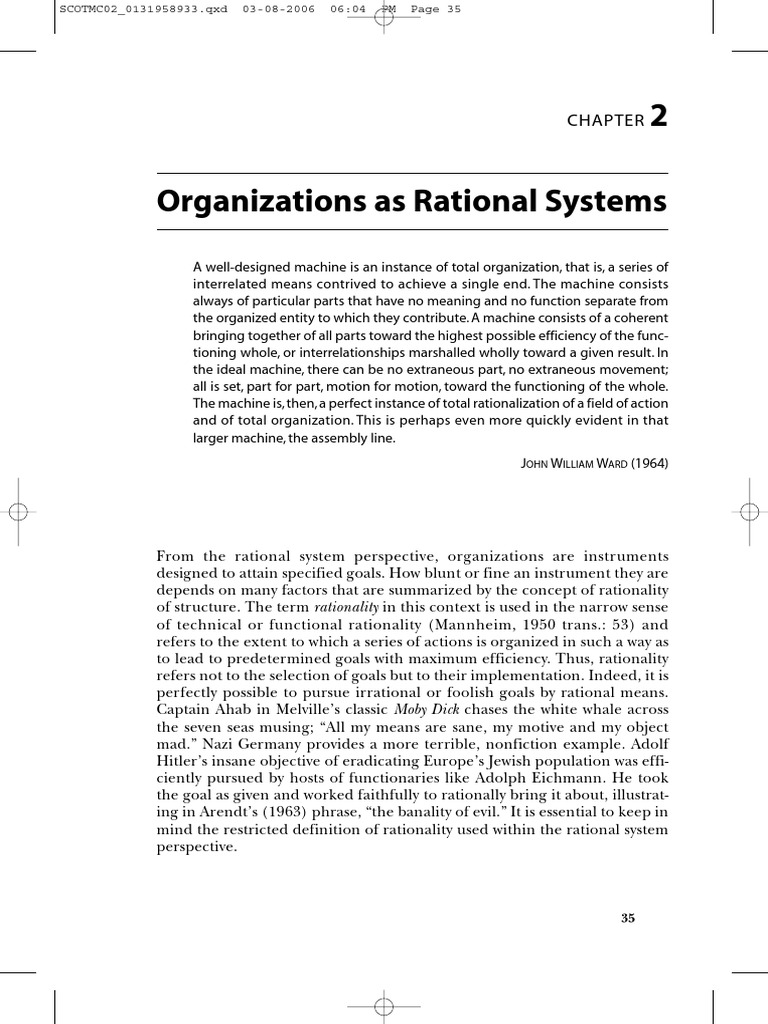organizations and organizing rational natural and open system