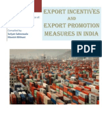 International Marketing Export Incentives