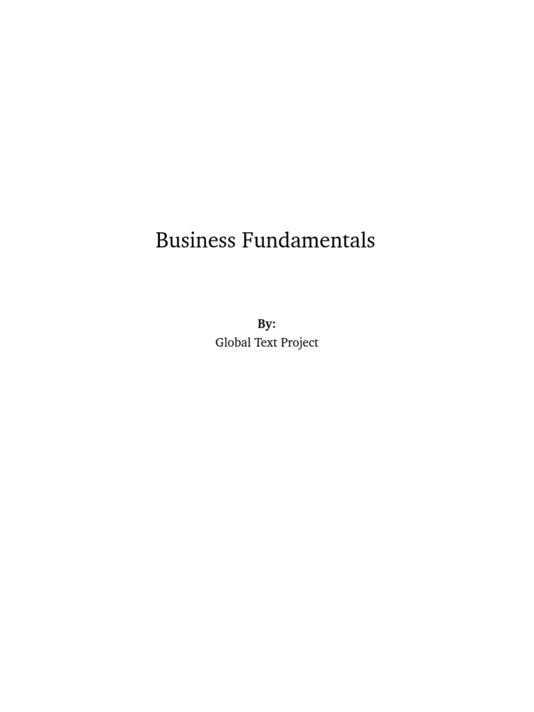business fundamentals 4 3 entrepreneurship startup company