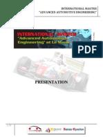 Master Advanced Automotive Engineering 2009