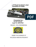 A Study of Road Accident's and Prevention in India