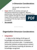 Organization Dimension Considerations - Notes