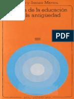Marrou Henry Irenee Historia de La Educacion en La Antiguedad PDF