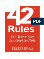 42 Rules for Your New Leadership Role - The Manual They Didn't Hand You When You Made VP, Director, Or Manager