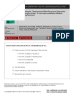Accelerating the Development of New Drugs and Diagnostics - Maximizing the Impact of the Cures Acceleration Network - Workshop Summary (2012) - 13452