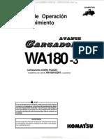 Manual Operacion Mantenimiento Cargador Frontal Wa180 3 Komatsu