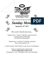 Sunday Lunch Menu 28092014
