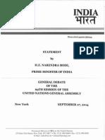 Modi UNGA Full Speech